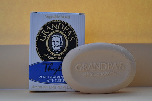 •	Серное мыло Grandpa's, Thylox, Acne Treatment Soap with Sulfur